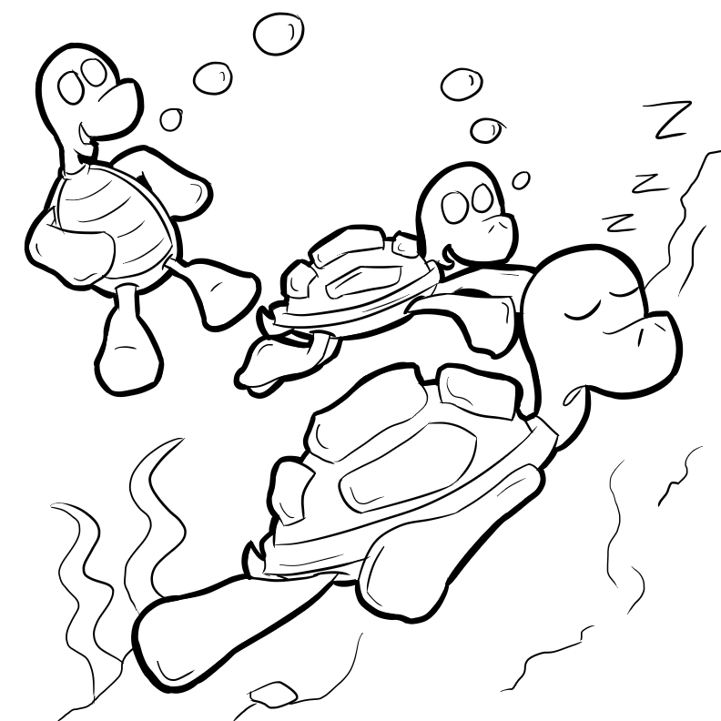 Bug Museum - Reptile Coloring Pages - Turtles (8)